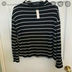 Anthro Sunday in Brooklyn Striped Long Sleeve Top